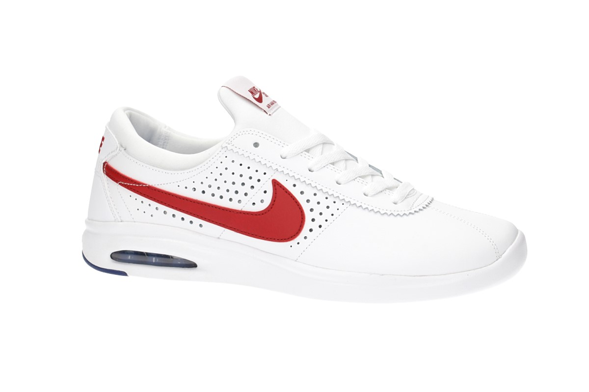 the latest 88f20 bc635 ... norway nike sb air max bruin vapor shoes white gym red 723cb 3554a