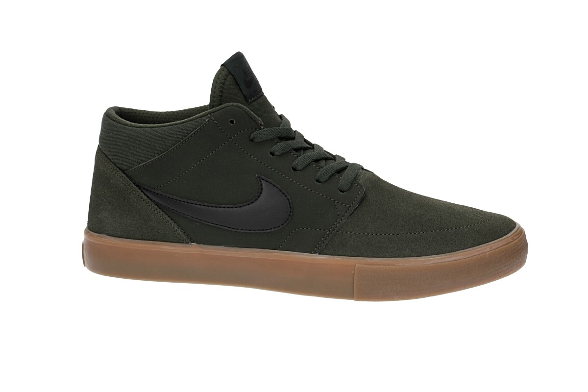 fashion style various styles detailed images Nike SB Solarsoft Portmore II Mid Schuh (sequoia black gum)