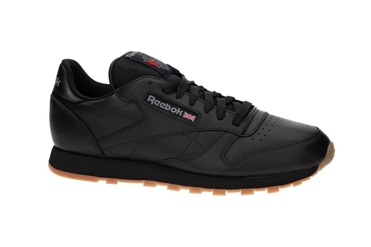 reebok classic leather chaussure black gum achetez sur skatedeluxe. Black Bedroom Furniture Sets. Home Design Ideas