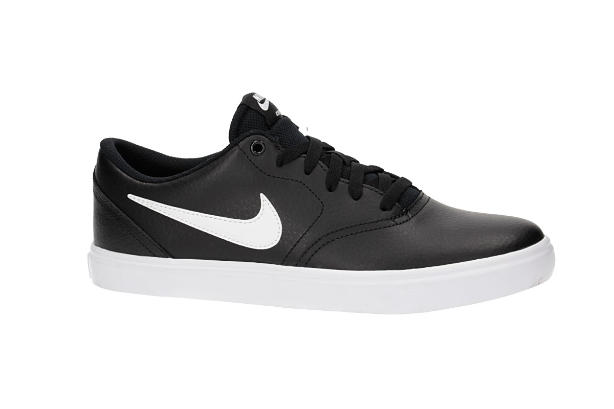 Nike SB Check Solarsoft Leather Shoes (black white)