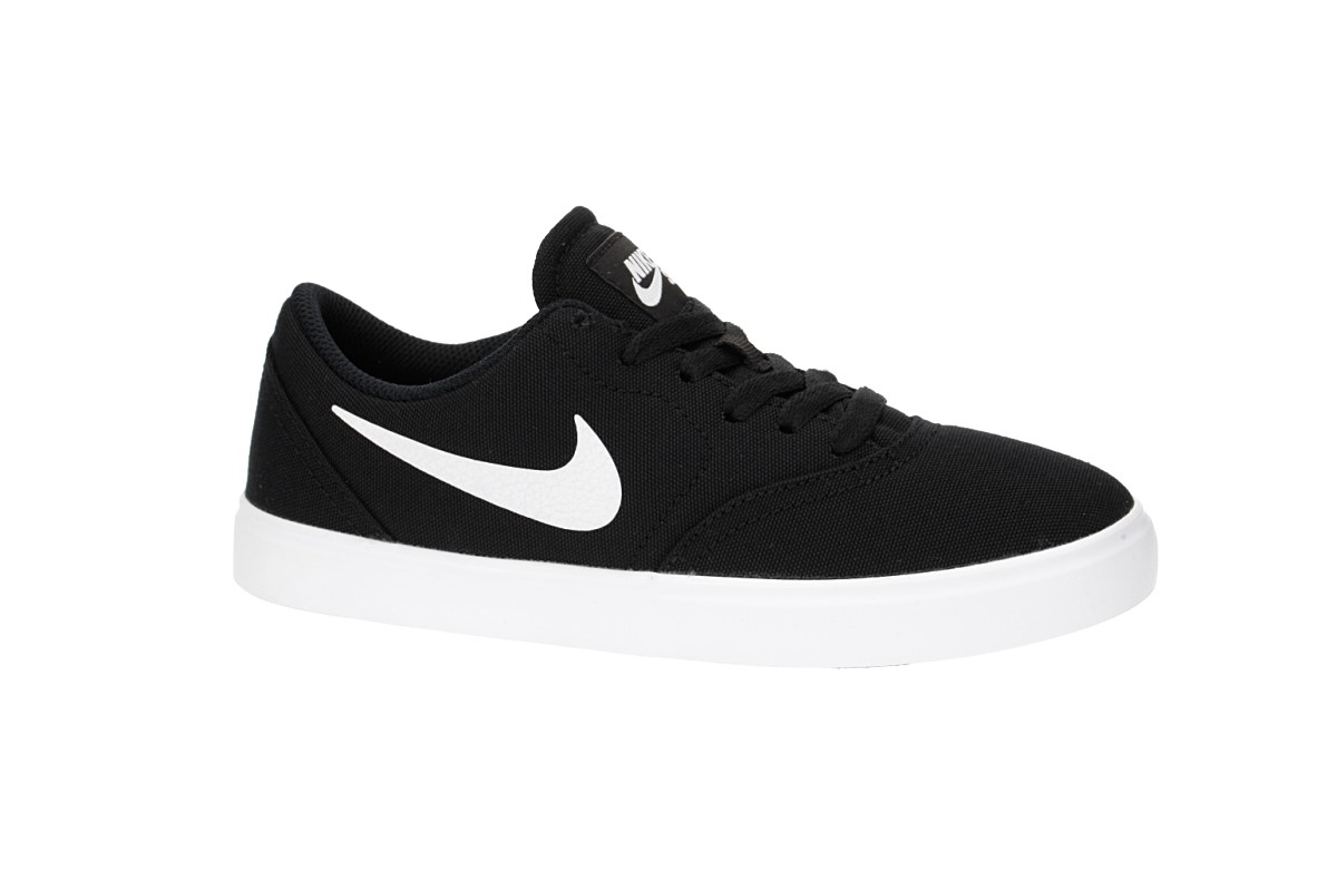 Nike SB Check Canvas Schuh kids (black white)