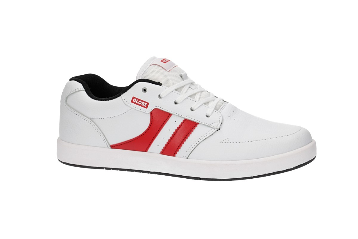 Globe Octave Shoes (white black red)