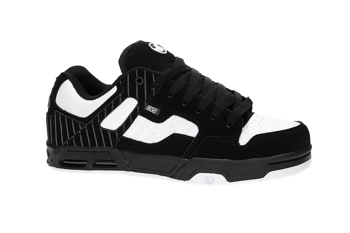 DVS Enduro Heir Nubuck Shoes (black white pinstripe)