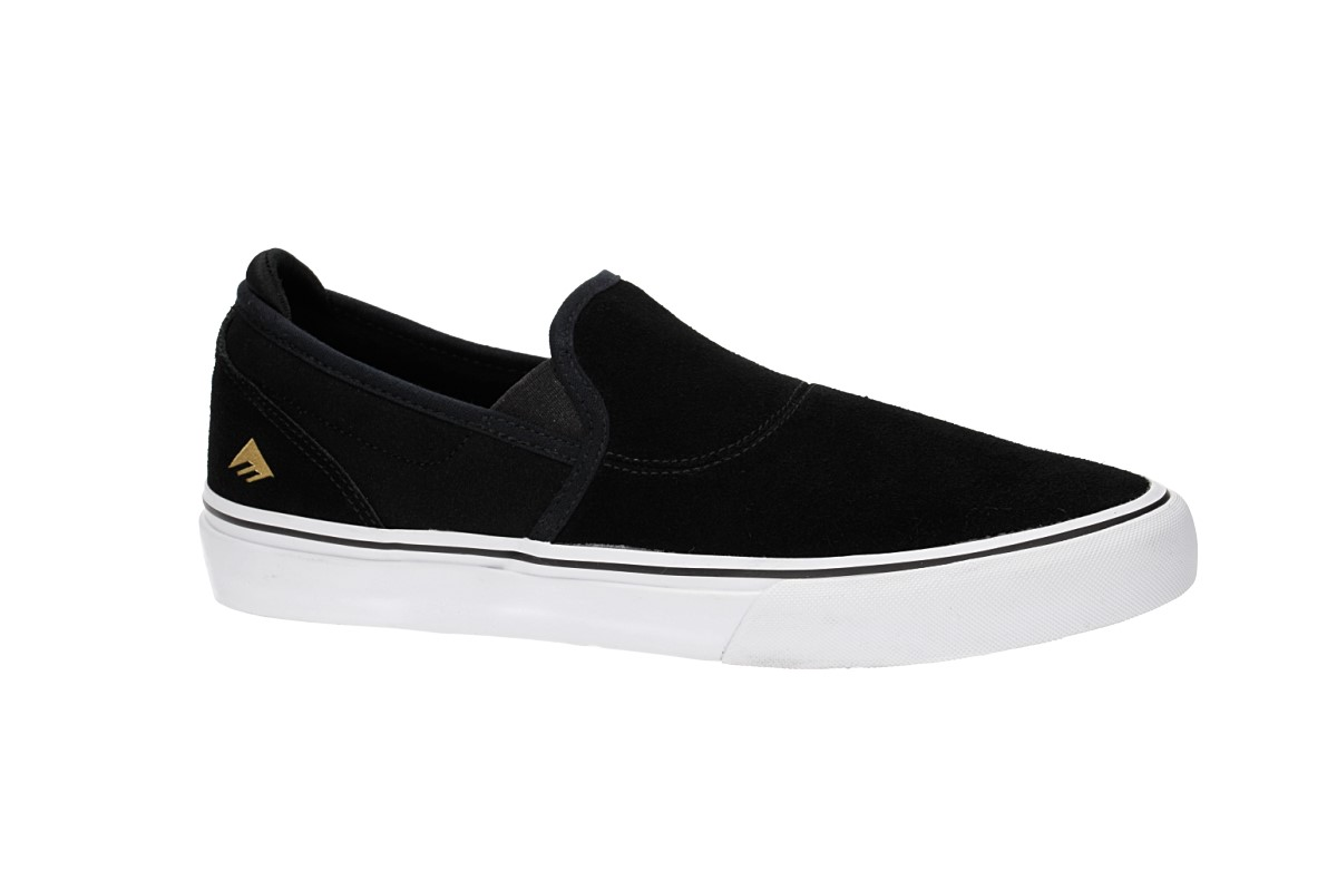 Emerica Wino G6 Slip-On Shoes (black white gold)