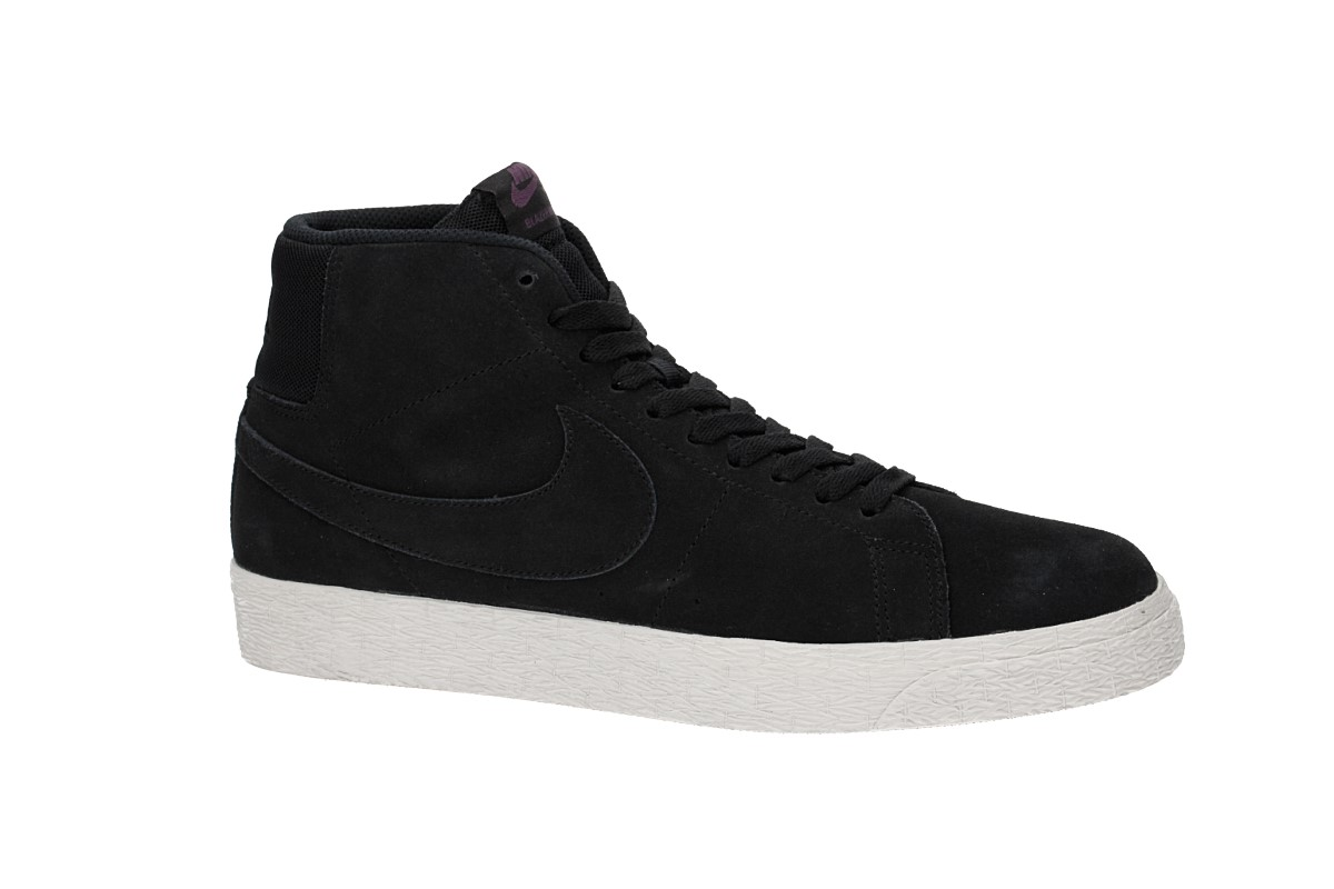 Nike SB Zoom Blazer Mid Deconstructed Zapatilla (black pro purple)