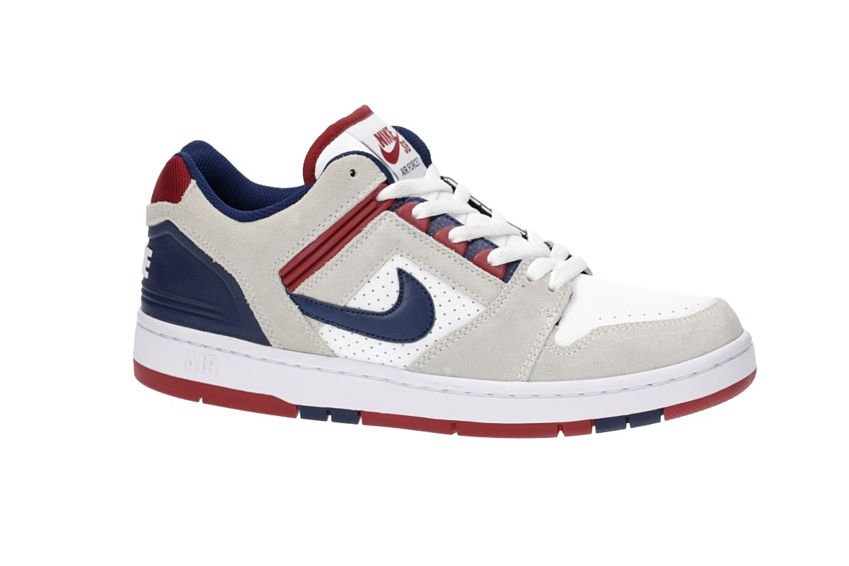 Nike SB Air Force II Low Shoes (white blue void)