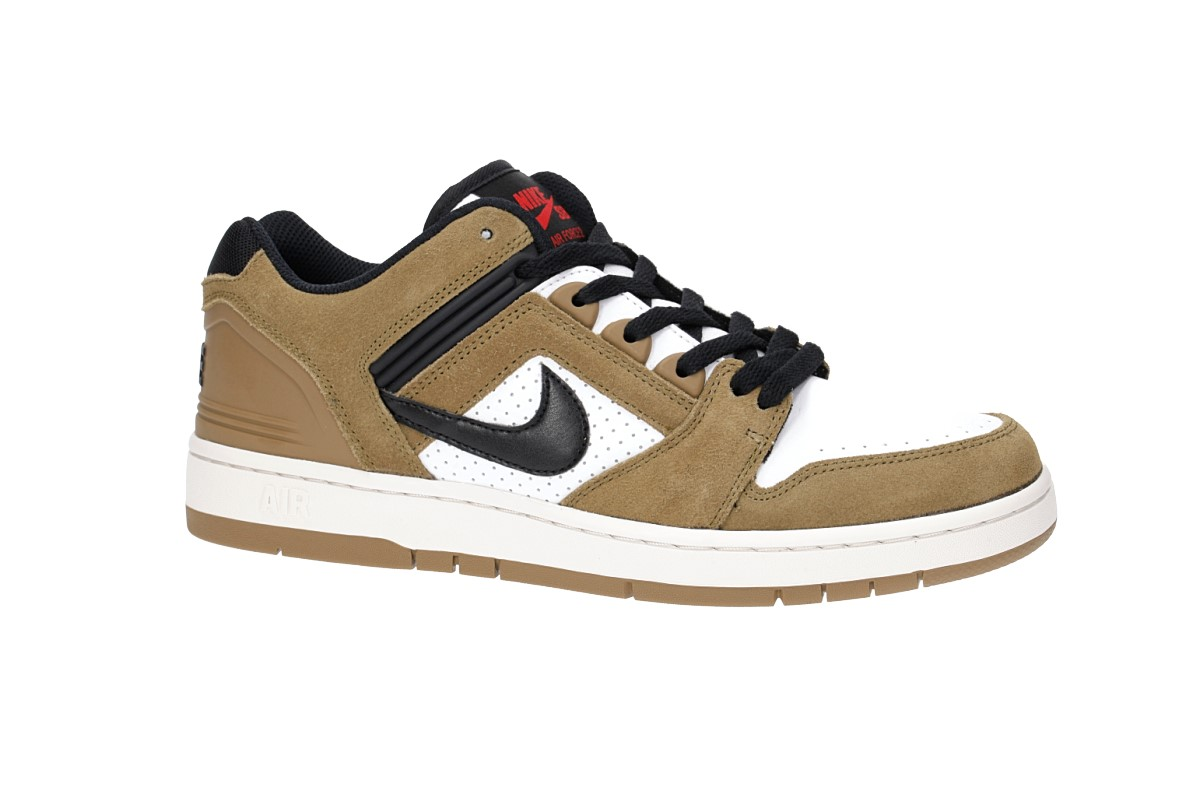 ac48e333b1c Nike SB Air Force II Low Shoes (lichen brown black) buy at skatedeluxe