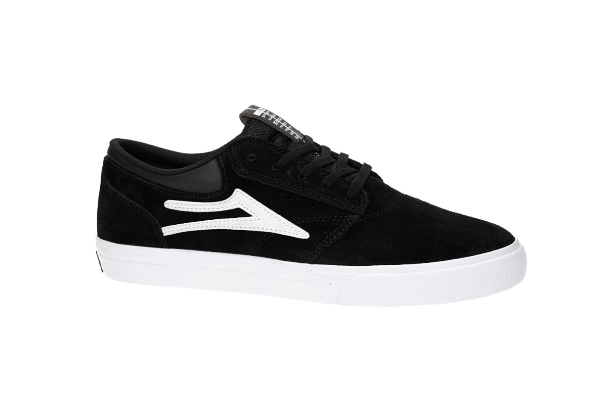 Lakai Griffin Suede Shoes (black white 2)