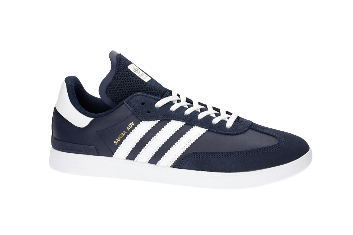 6ba45417502 adidas Skateboarding Samba ADV Shoes (collegiate navy white) buy at ...