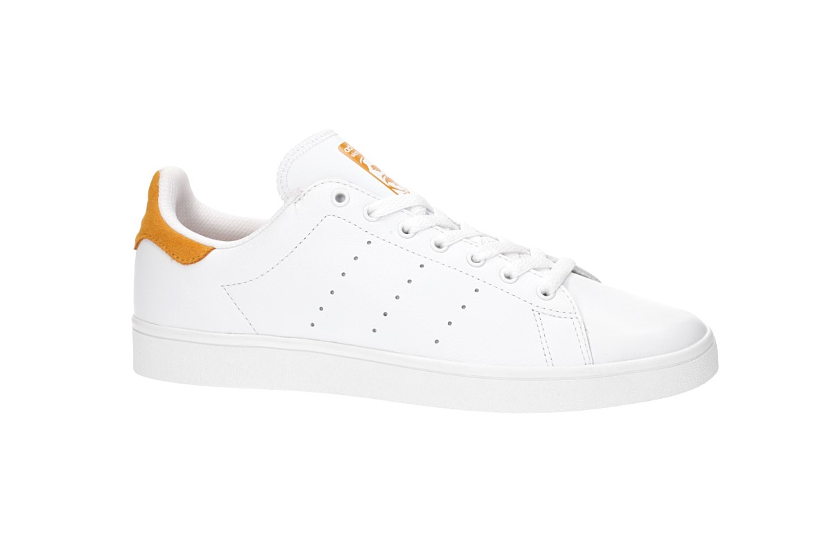 adidas Skateboarding Stan Smith Vulc Shoes (white white yellow)
