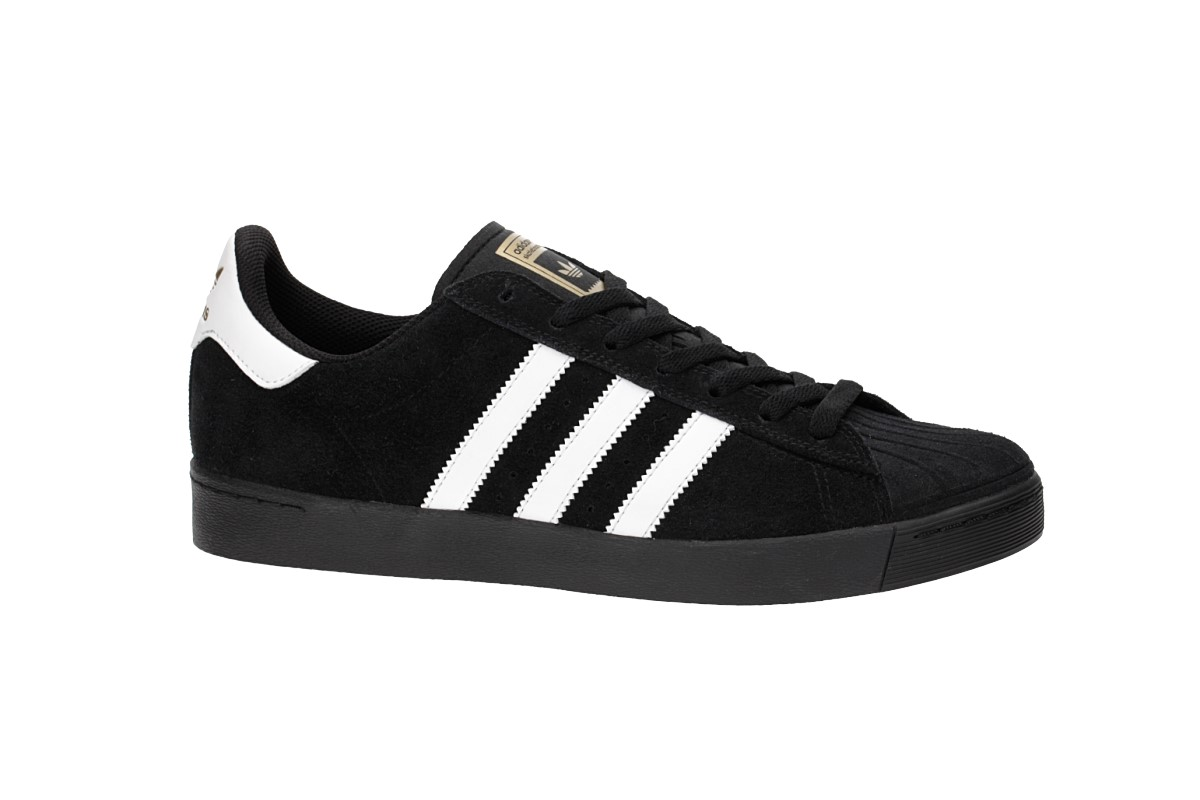 adidas Skateboarding Superstar Vulc ADV Schoen (core black white gold)