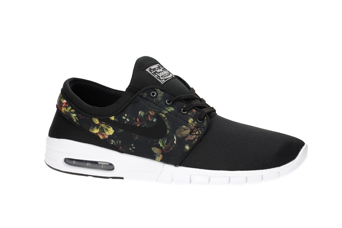 Nike SB Stefan Janoski Max Shoes (black multi color floral)