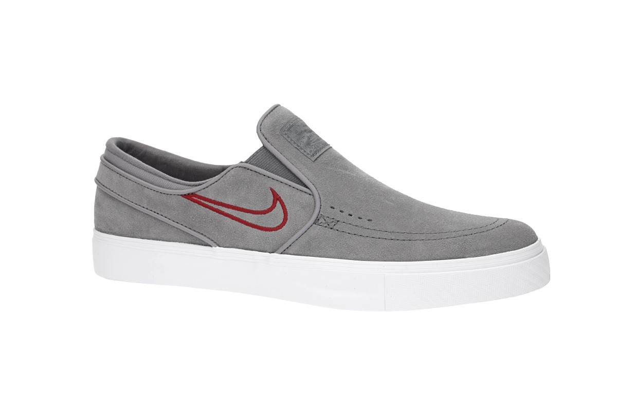 Nike SB Zoom Stefan Janoski Slip Shoes (gunsmoke red crush)