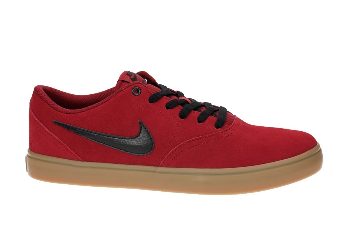Nike SB Check Solarsoft Shoes (red crush gum)