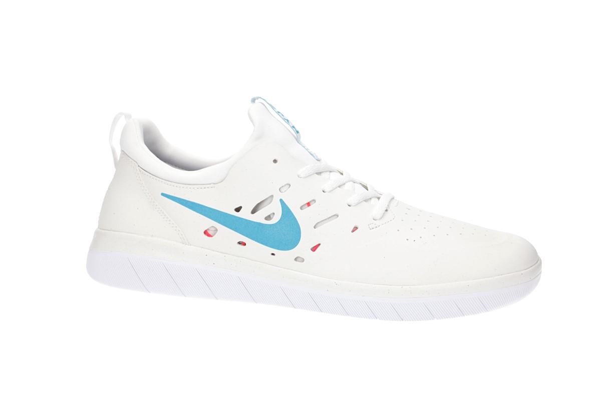 Nike SB Nyjah Free Schuh (summit white light blue)