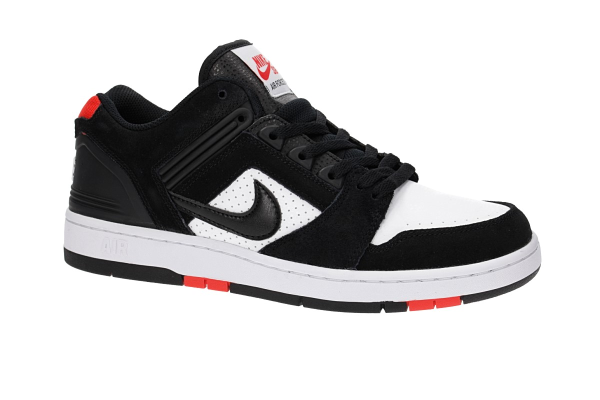 Nike SB Air Force II Low Chaussure (black black white habanero red)
