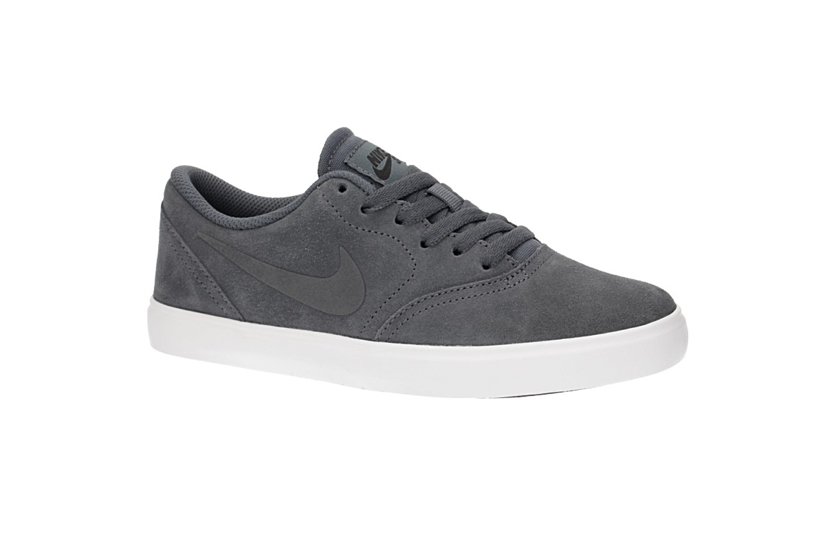 Nike SB Check Suede Shoes kids (dark grey summit white)