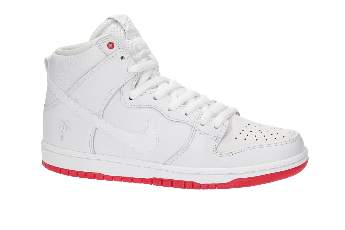 Nike SB Zoom Dunk High Kevin Bradley QS Shoes (white white university red)