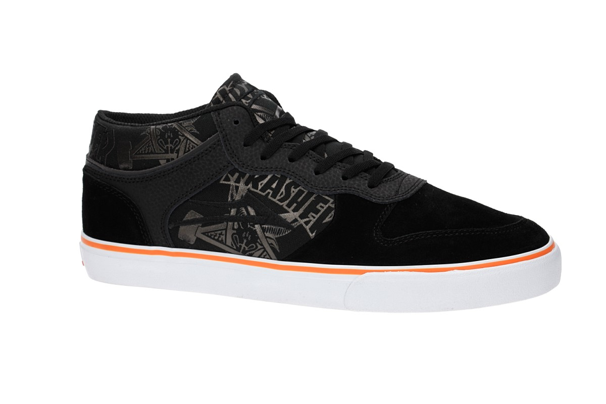 Lakai x Thrasher x Carroll Mid Suede Chaussure (black orange)
