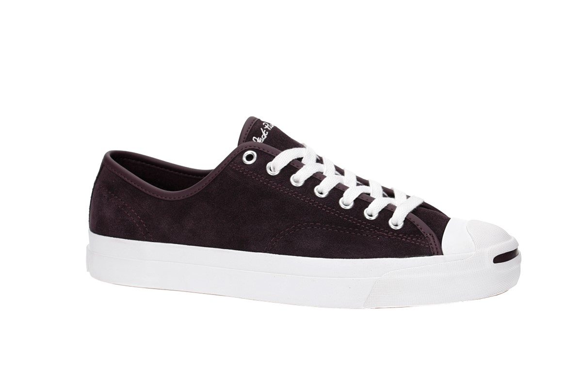 Converse Jack Purcell Pro Ox Shoes (black cherry white white)