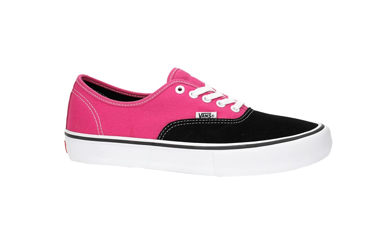 8628987634d277 Vans Authentic Pro Shoes (black magenta) buy at skatedeluxe