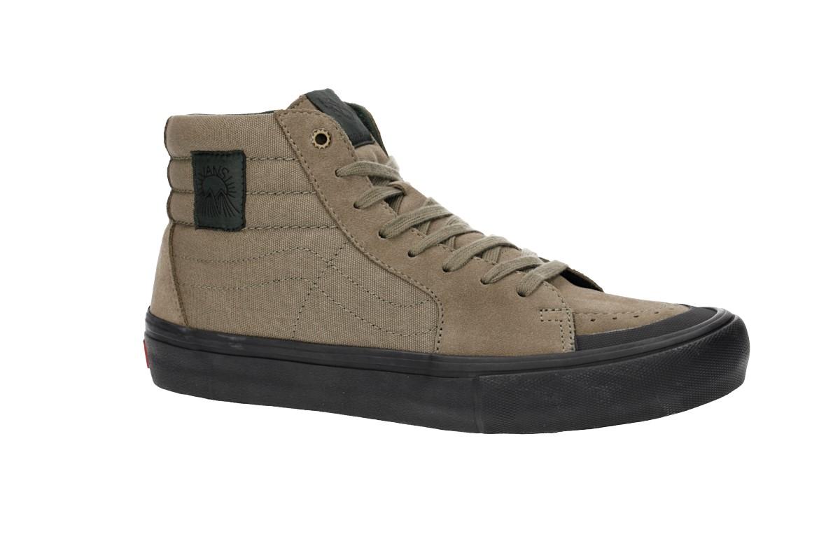 b10aff50fa Vans Sk8-Hi Pro Shoes (dakota roche covert green black) buy at ...