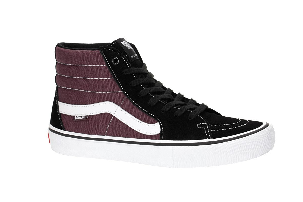 ec0ee8d9f7192f Vans Sk8-Hi Pro Shoes (black raisin) buy at skatedeluxe