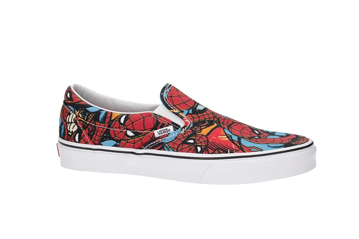 c975da770cc0b1 Vans x Marvel Classic Slip-On Shoes (spiderman black) buy at skatedeluxe