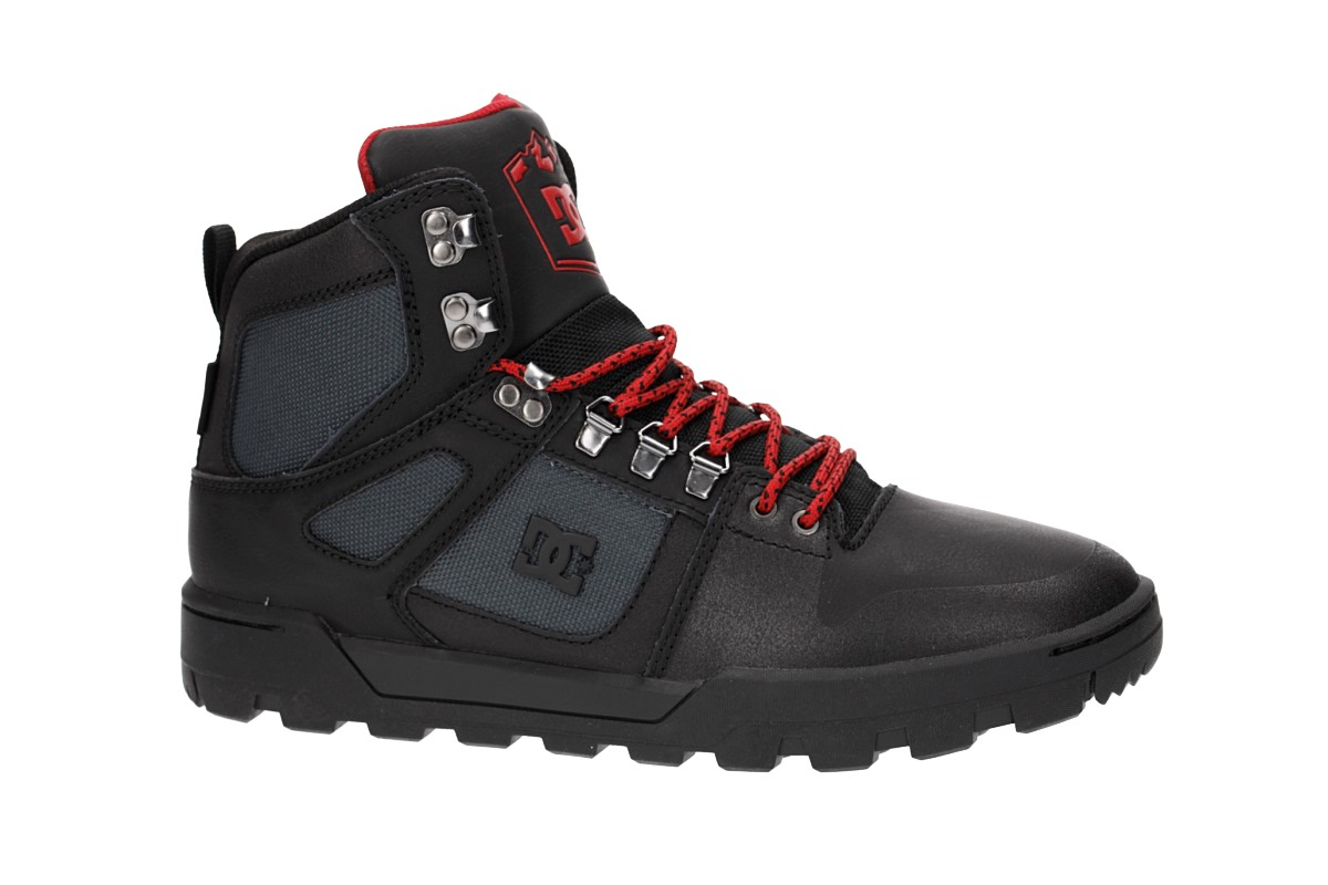 DC Pure High Top WR Boot Chaussure (black grey red)