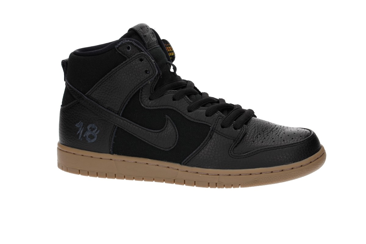 Nike SB x Anti Hero Zoom Dunk High Brian Anderson QS Shoes (black gum)