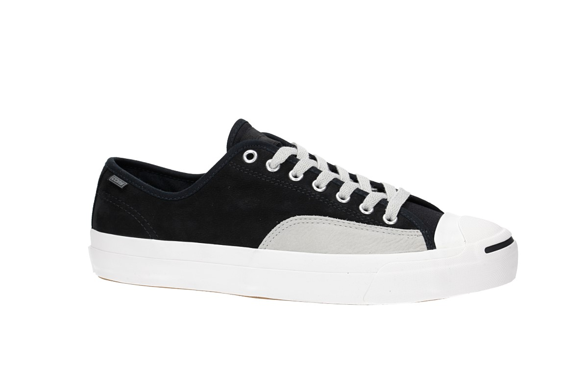 Chaussures Converse Cons Jack Purcell Pro Ox Black Pale Grey Vintage White