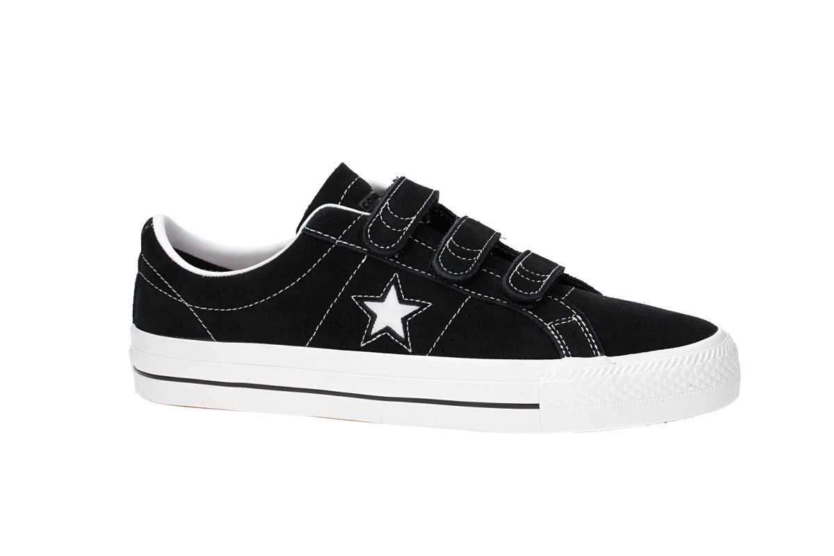 Converse One Star Pro 3V Chaussure (black pomegranate red white)