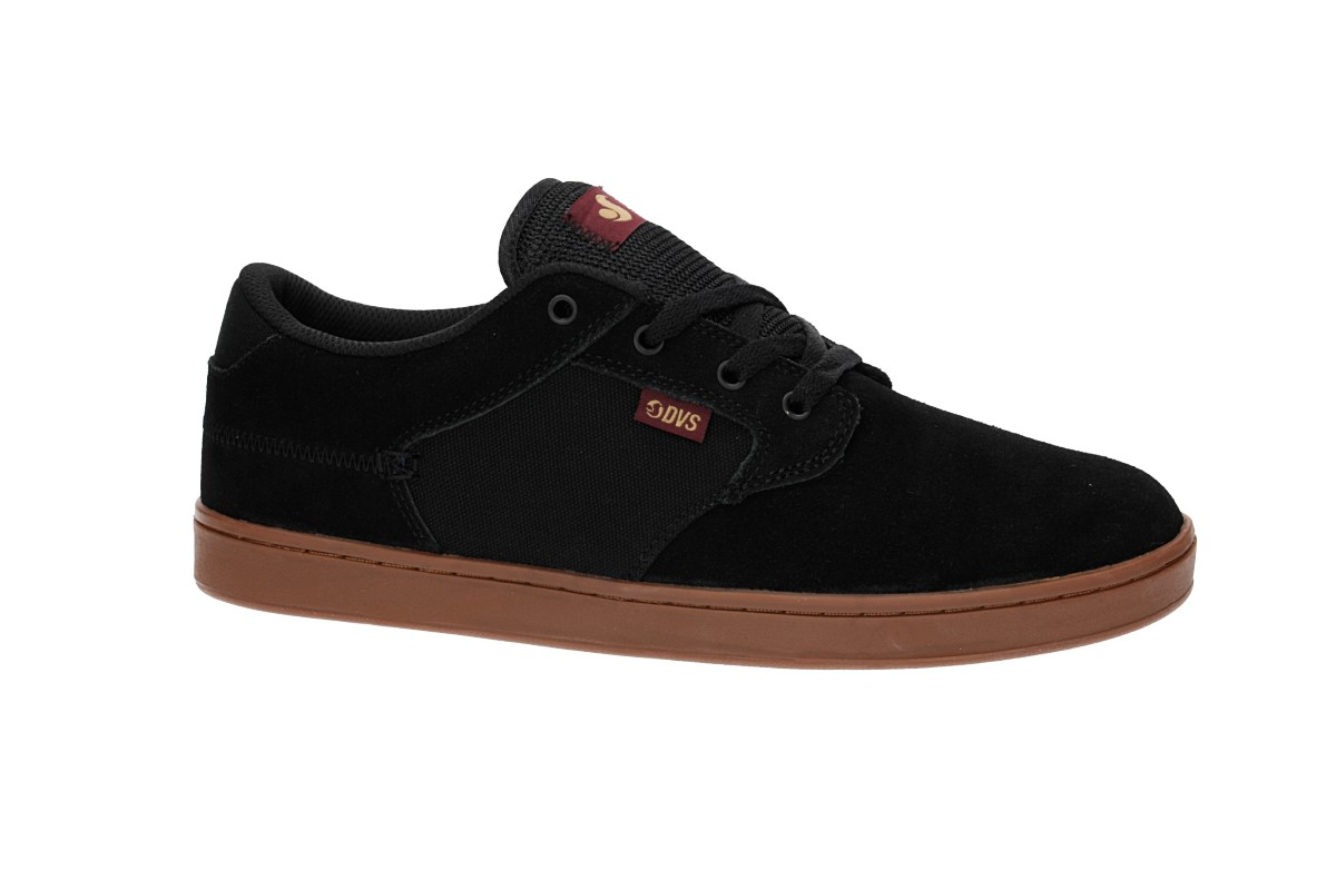 DVS Quentin Suede Shoes (black gum port)