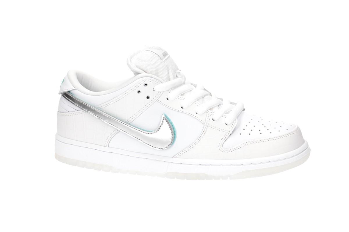 374df25645 Nike SB x Diamond Dunk Low Pro OG QS Zapatilla (white chrome ...