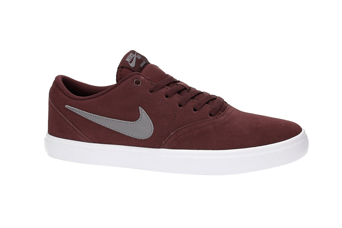 Nike SB Check Solarsoft Schoen (burgundy crush gunsmoke)