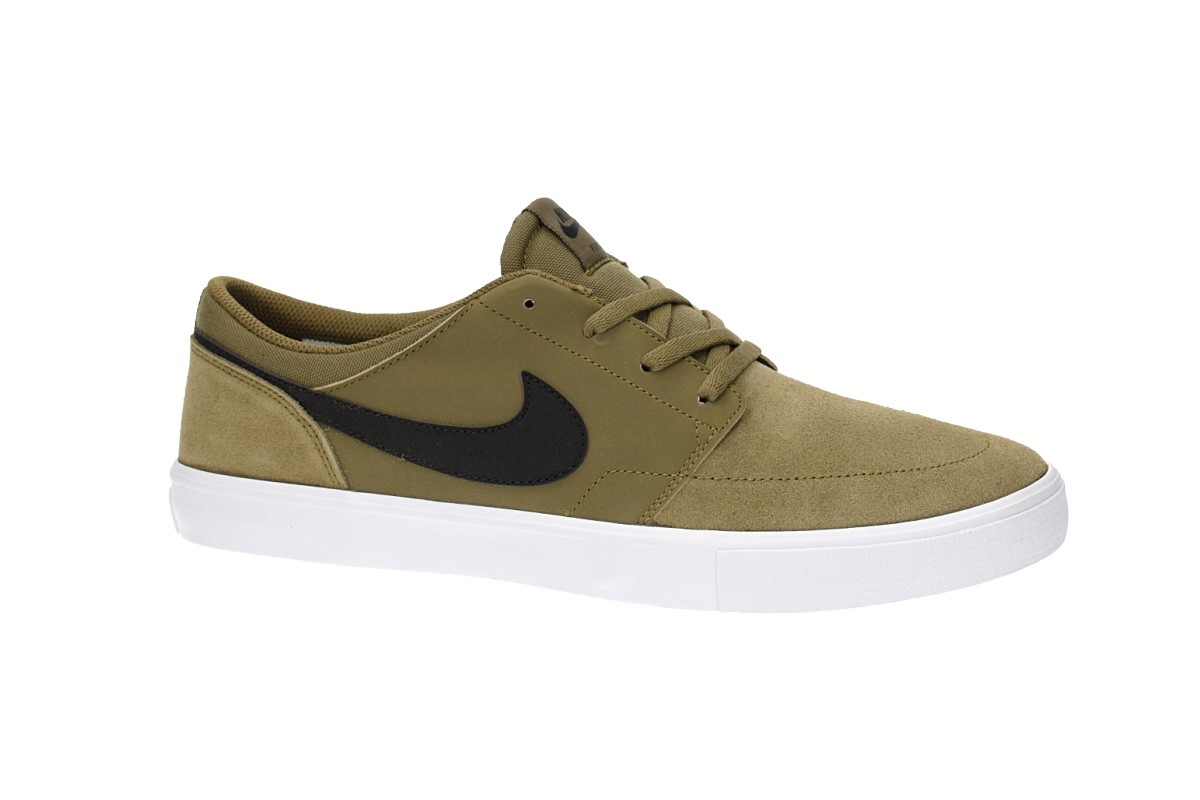 Nike SB Solarsoft Portmore II Shoes (olive flak black)