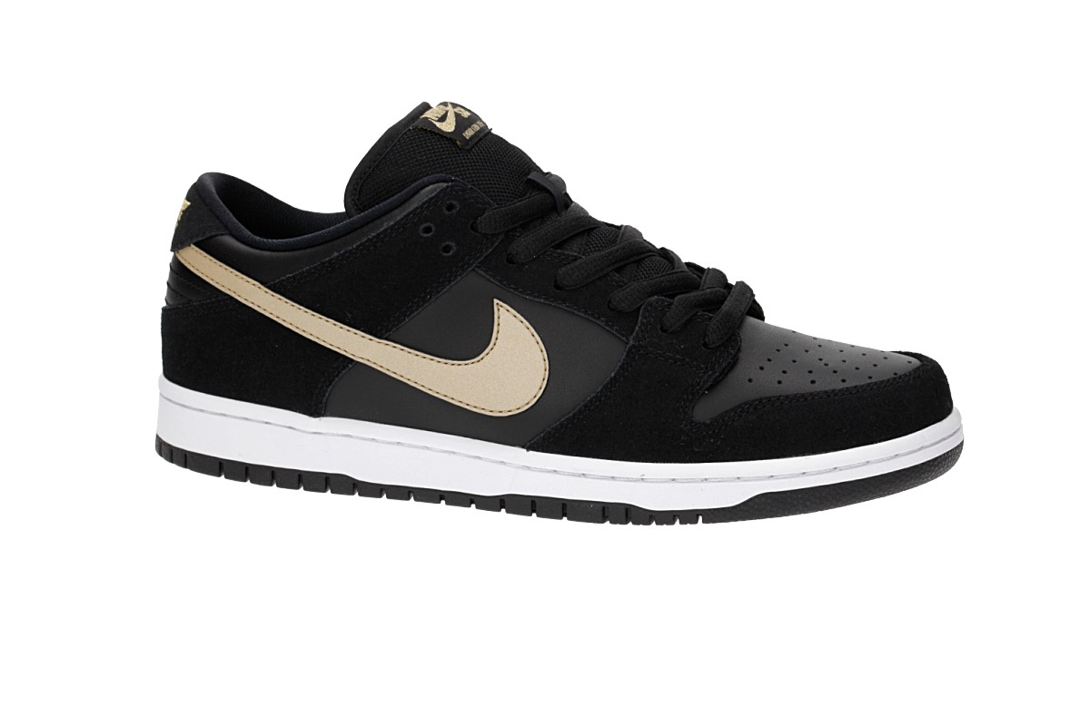 Nike SB Dunk Low Pro Chaussure (black metallic gold)