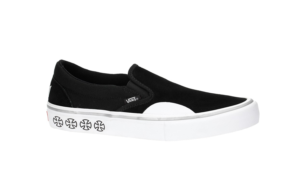 902449e13598 Vans x Independent Slip-On Pro Shoes (black white) buy at skatedeluxe