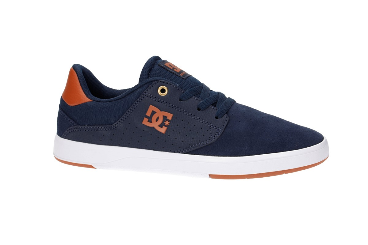 349bfc619a4 DC Plaza TC Shoes (navy dark chocolate) buy at skatedeluxe