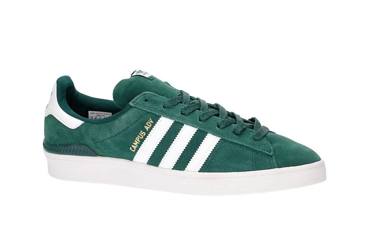adidas Skateboarding Campus ADV Chaussure (collegiate green white gold)