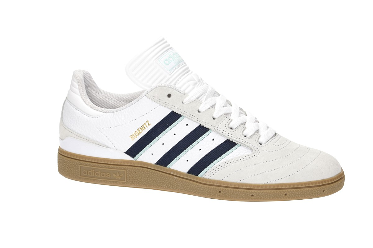 adidas Skateboarding Busenitz Shoes (white collegiate burgundy clear)