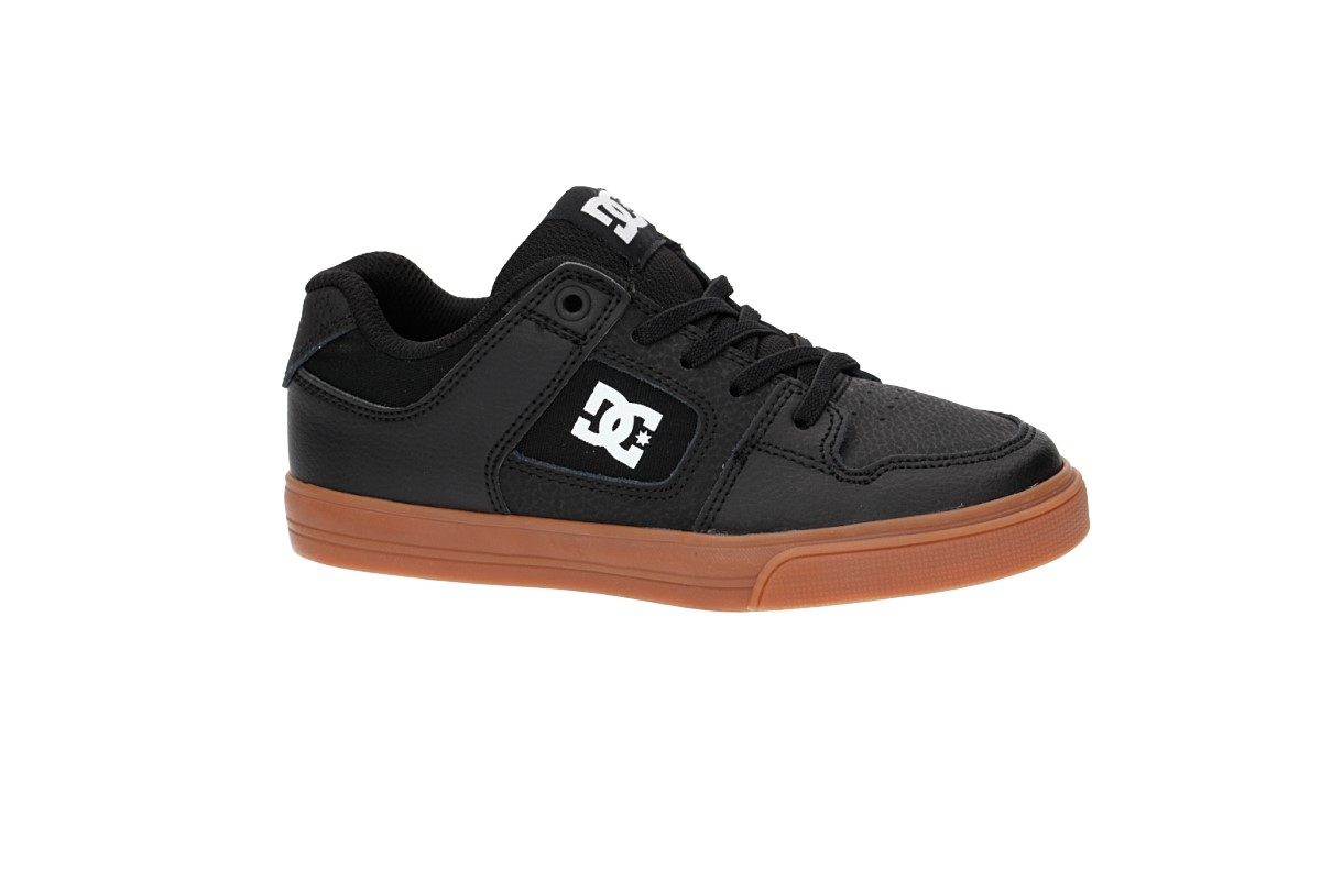 DC Pure Elastic Zapatilla kids (black white gum)