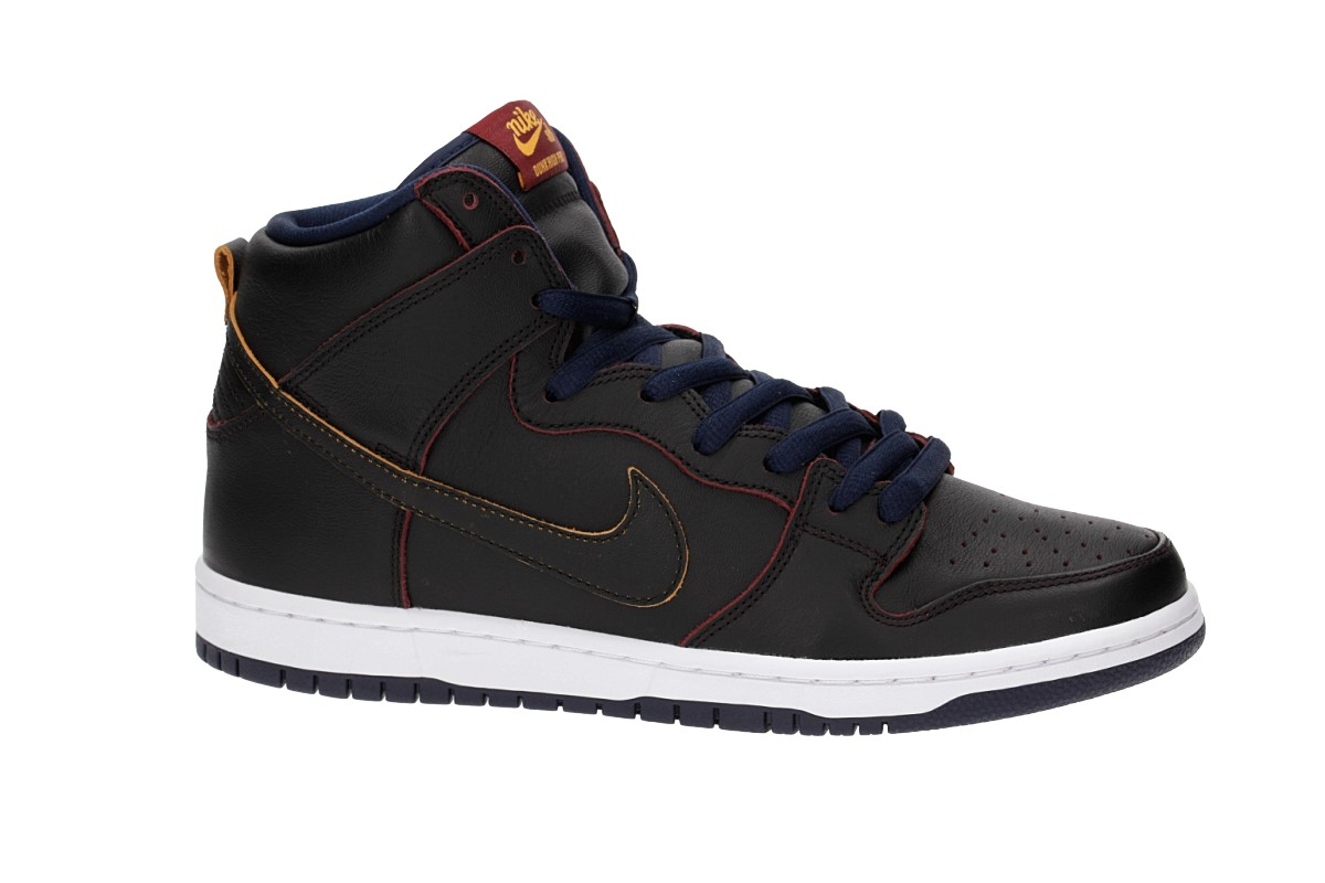 7d34cc94f7a Nike SB x NBA Dunk High Pro Shoes (black black college navy) buy at ...