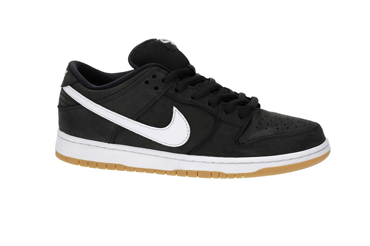 online store 6dcaa d49f7 Nike SB Orange Label Dunk Low Pro Iso Shoes (black white)