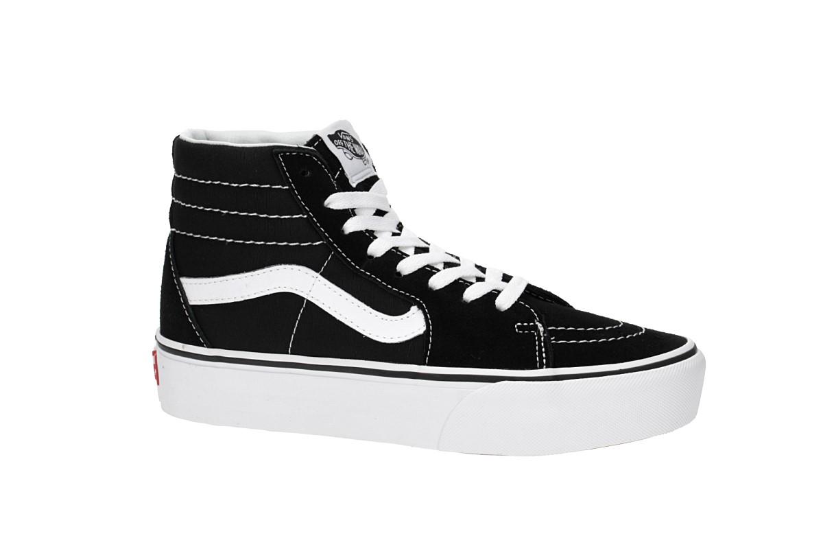 10e90411dc54af Vans Sk8-Hi Plattform 2.0 Shoes women (black true white) buy at ...