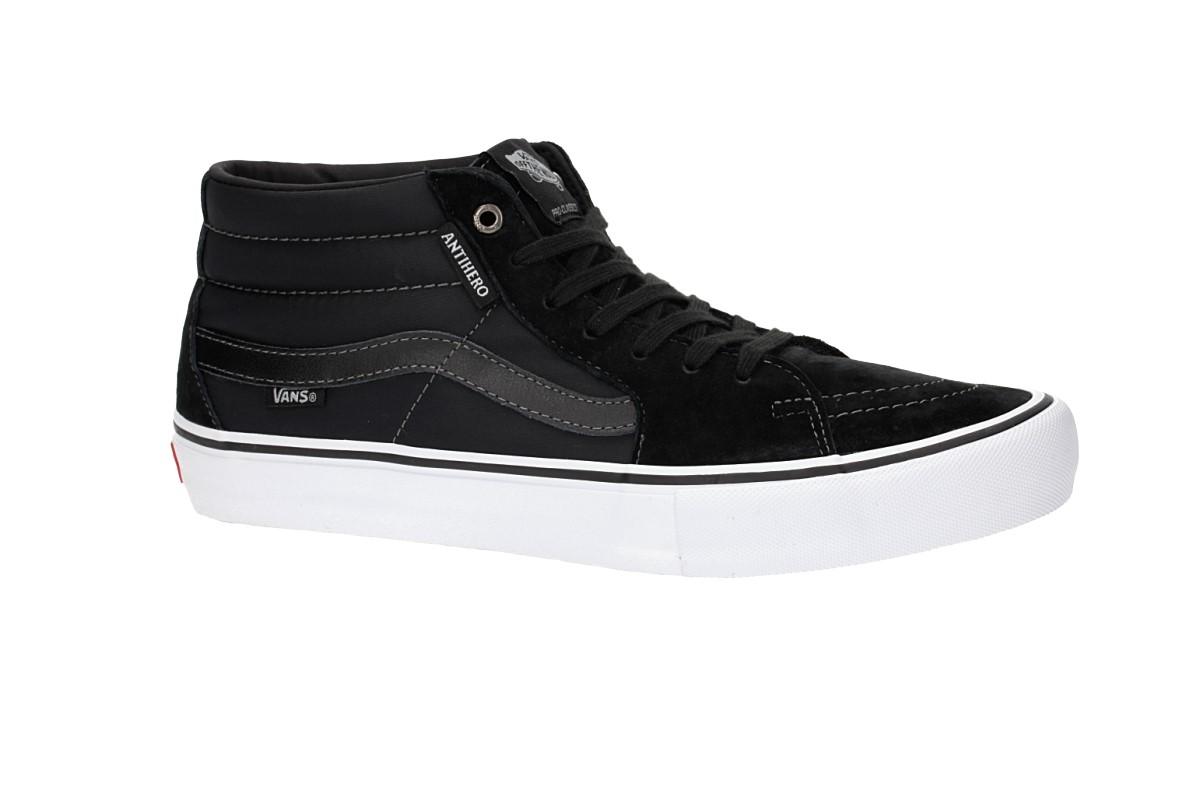 c8f9e48d5b Vans x Anti Hero Sk8-Mid Pro Shoes (grosso black) buy at skatedeluxe