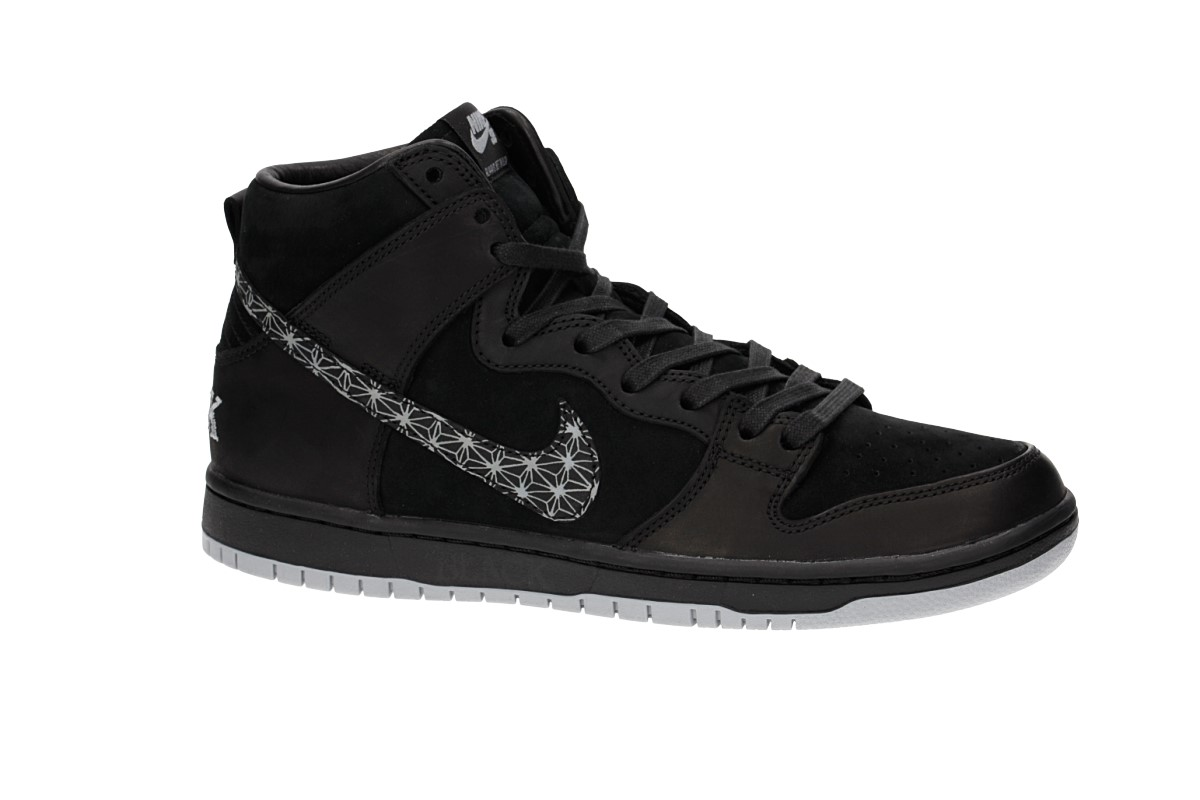 Nike SB x Black Bar Dunk High Pro QS Shoes (black) buy at skatedeluxe 959f032ce