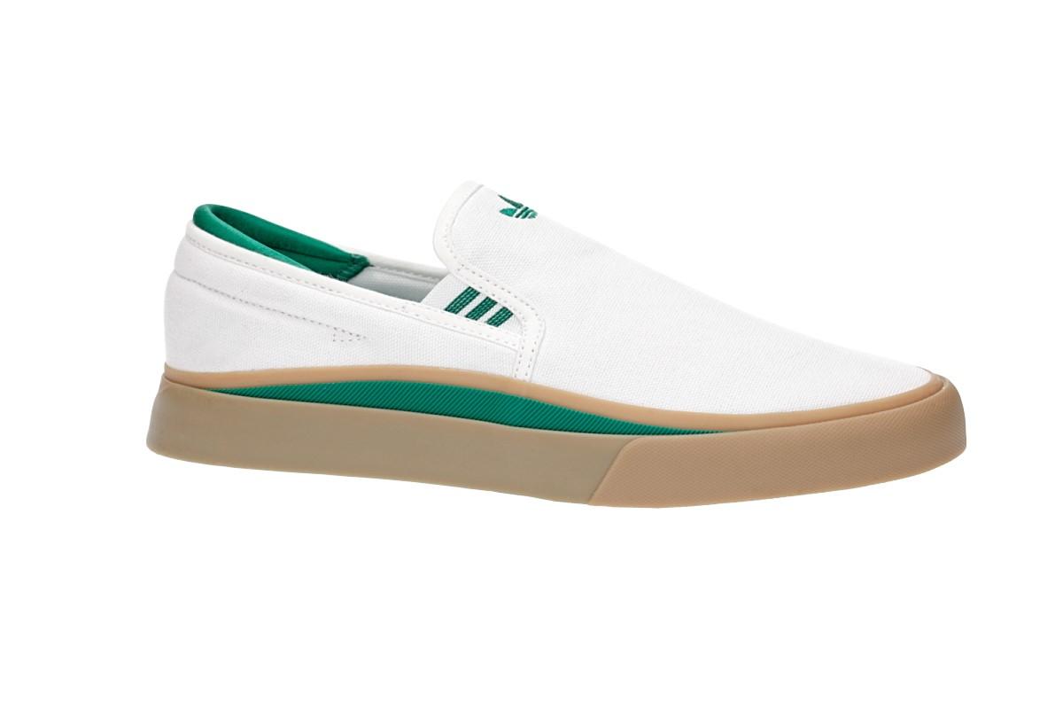 adidas Skateboarding Sabalo Slip Schuh (white bold green gum)