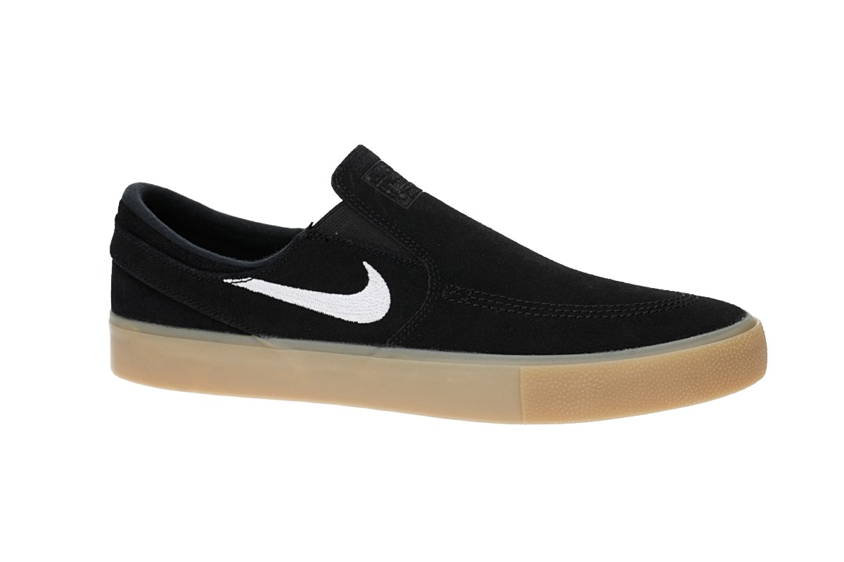 Nike SB Zoom Janoski Slip RM Shoes (black white gum light brown)