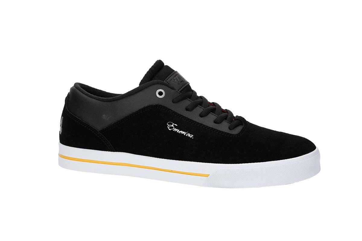 Emerica x Vol 4 G-Code Re-Up Shoes (black white gold)